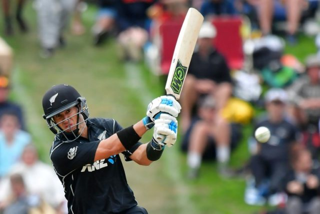 Ross Taylor limped through much of his innings after aggravating a thigh injury, but scored an unbeaten 181 to seal a series-levelling five-wicket win for New Zealand in the fourth ODI against England