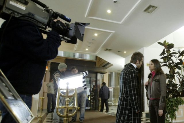 "File photo from the set of the Turkish soap opera ""Foreign Bridgegroom"". Criticism is mounting in Turkey over a decision by Saudi-owned broadcaster MBC to stop airing Turkish soap operas, stoking tensions between Ankara and Riyadh"