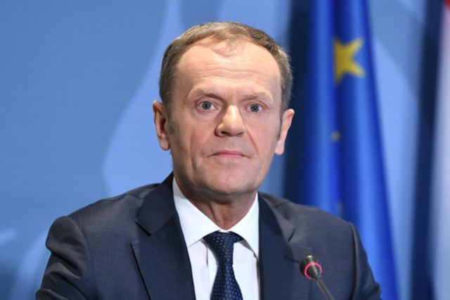 """My proposal shows that we don't want to build a wall between the EU and Britain,"" Tusk said"