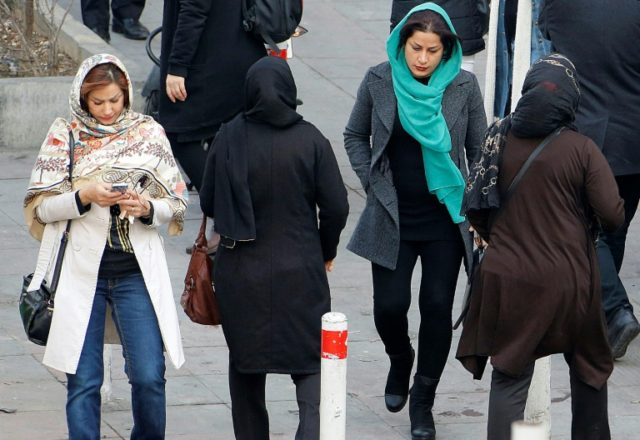 All women in Iran must be fully veiled in public at all times, according to a law in place since the Islamic Revolution of 1979