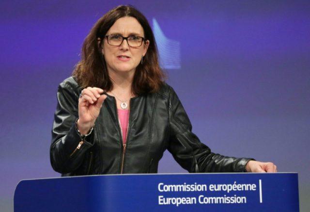 Nobody wins in trade wars, the EU's Malmstroem warns