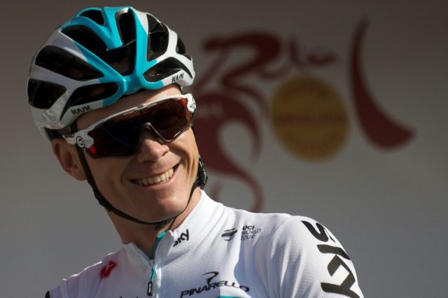 Team Sky's cyclist Chris Froome, pictured in February 2018, is competing in the Tirreno-Adriatico race for only the second time