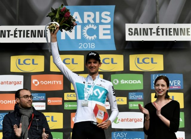 Team Sky's Wout Poels is now second overall after winning Wednesday's time-trial