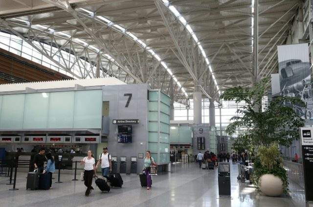 San Francisco International Airport is among the structures built mostly on landfill