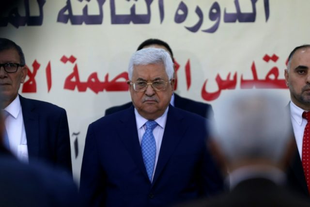 Palestinian president Mahmud Abbas attends a meeting of his ruling Fatah party in the West Bank city of Ramallah, in this file picture taken on March 1, 2018