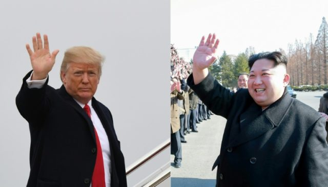 "The White House confirmed President Donald Trump would accept the invitation to meet North Korea's Kim Jong Un ""at a place and time to be determined"""