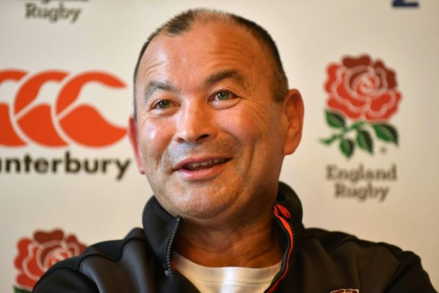 Fighting talk: England coach Eddie Jones at Thursday's press conference ahead of the match against France