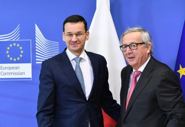 Poland's Prime Minister Mateusz Morawiecki said talks with European Commission chief Jean-Claude Juncker were 'very constructive'