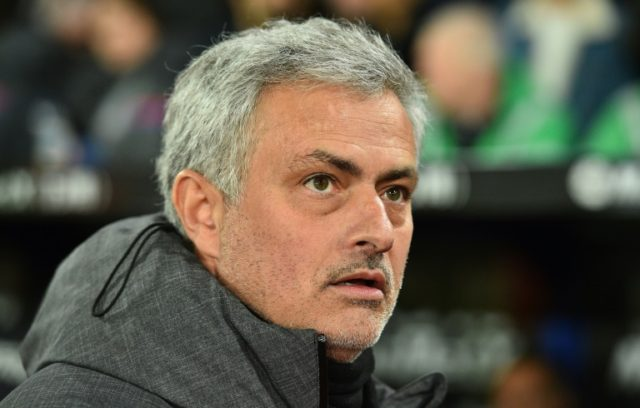 Manchester United's Portuguese manager Jose Mourinho is seen here ahead of the English Premier League football match between Crystal Palace and Manchester United at Selhurst Park in south London on March 5, 2018