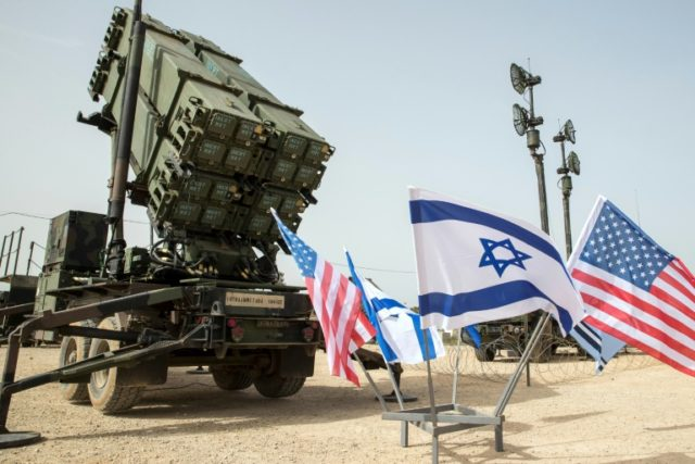 A US Patriot missile defence system is seen during a joint military drill in Israel on March 8, 2018