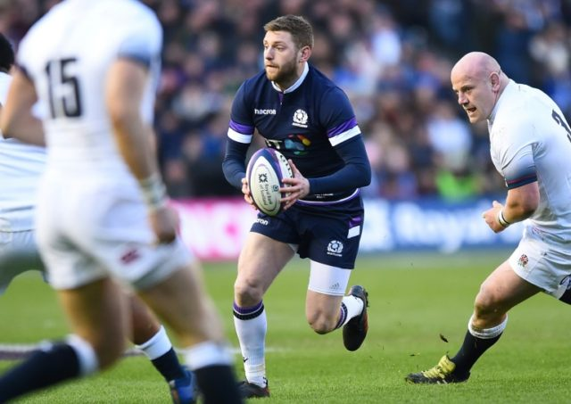 Scotland's Finn Russell in Six Nations action against England at Murrayfield on February 24, 2018