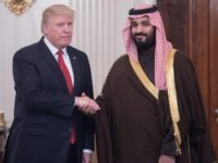US President Donald Trump and Saudi Crown Prince Mohammed bin Salman -- shown here at the White House in 2017 -- will meet there again on Tuesday