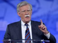 Former US Ambassador to the UN John Bolton speaks at the Conservative Political Action Conference (CPAC) in February; the vocal advocate of the Iraq war has also supported preemptive strikes against North Korea and war with Iran