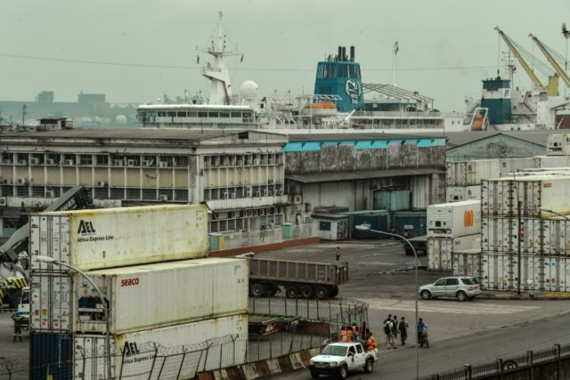 A general view of the major seaport of Douala in Cameroon, which is a gateway for landlocked Central African Republic and Chad