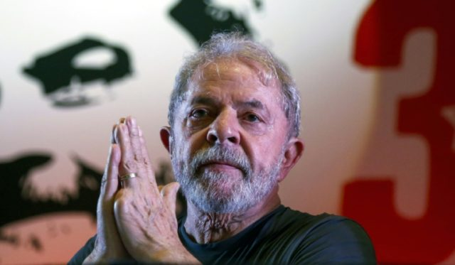Former Brazilian president Luiz Inacio Lula da Silva -- vying to make a political comeback this October -- is staging a rally on Wednesday, in the same city as his closest rival
