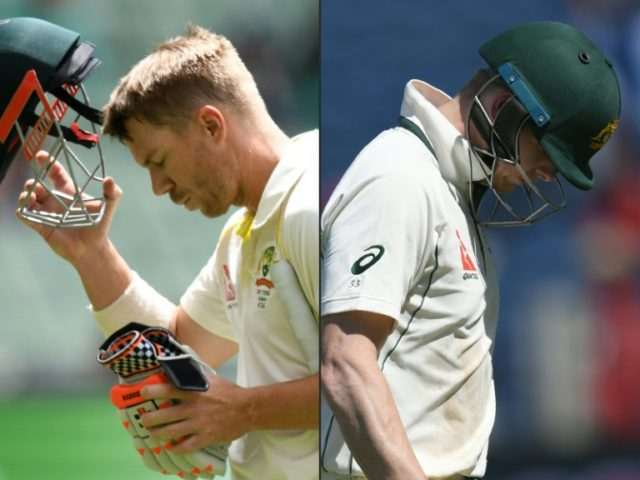 Australia's David Warner (left) and Steve Smith have both been banned from top-level cricket for 12 months