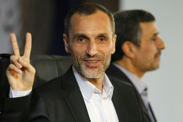 Former Iranian president Mahmoud Ahmadinejad says his ally Hamid Baghaie, seen here in Tehran on April 5, 2017, is on hunger strike and in deteriorating health after being imprisoned on what he says are politically motivated embezzlement charges