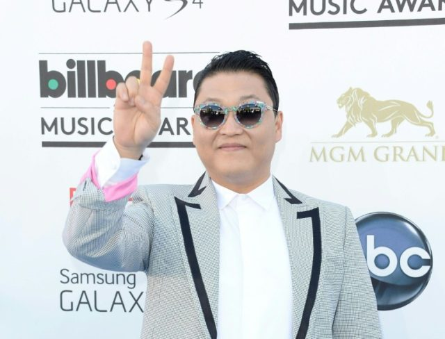 Psy has in the past stripped topless on stage in the South and his lyrics include Korean swearwords