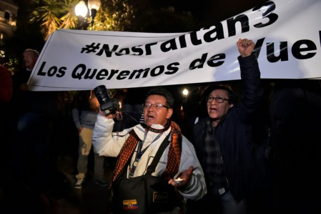 Colleagues and friends of two journalists who went missing in an Ecuador border area are calling for their return