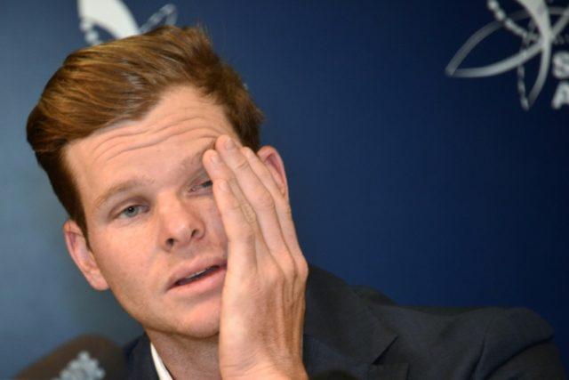 Tears: Australian captain Steve Smith