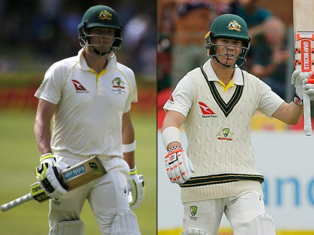 "A match referee warned in 2016 that Australian cricketers Steve Smith (L) and David Warner were ""involved in a ball-tampering incident"", report says"