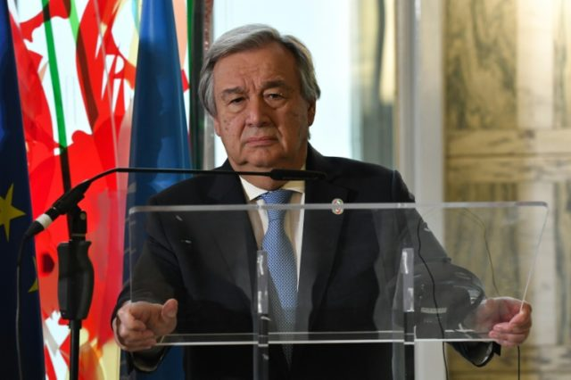 UN Secretary-General Antonio Guterres warns of a return Cold War-like tensions