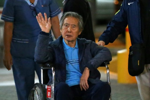 Peru's former president Alberto Fujimori, 79, was hospitalized with a stomach infection and dehydration on Wednesday in the Centenario Japanese-Peruvian clinic