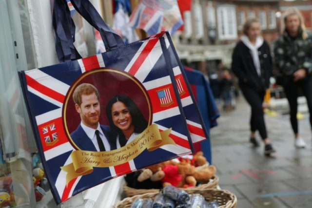 More than 100,000 visitors are expected in Windsor, west of London, for the wedding of Prince Harry and US actress Meghan Markle on May 19