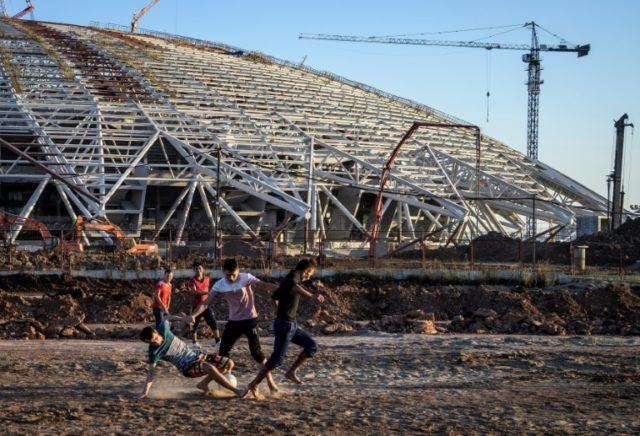 For a while last year, construction workers played football on the waste ground outside rather than work on building Samara's World Cup stadium.