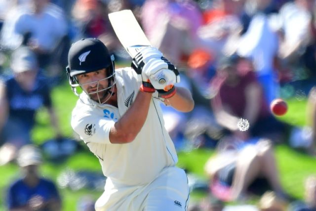 Colin de Grandhomme was unbeaten on 53 at tea as he led New Zealand's fightback against England in the second Test in Christchurch