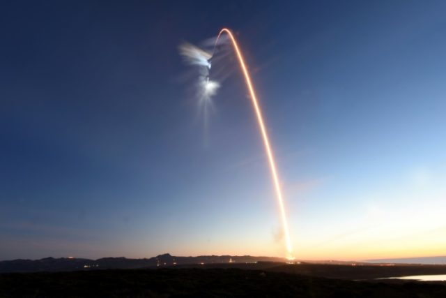 The SpaceX Falcon 9 rocket blasts off in December with a payload for Iridium