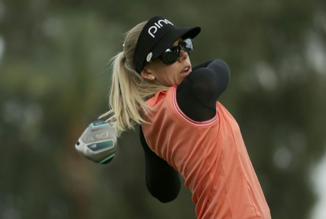 Pernilla Lindberg of Sweden fired a two-under 70 in the third round at the ANA Inspiration to reach 14-under 202 as she aims to capture her first title in eight seasons on the LPGA Tour