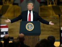 "President Donald Trump delivered a populist address to industrial workers in the state of Ohio, saying that US forces would be ""coming out of Syria, like, very soon"""