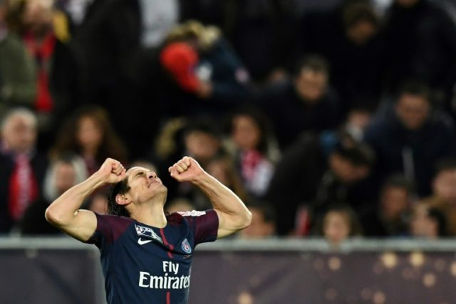 Edinson Cavani's double means he has now scored eight goals in French League Cup finals