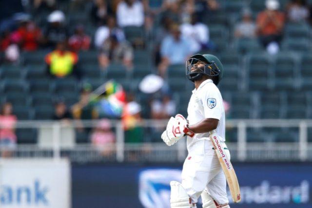 Bavuma just misses century in big South African total