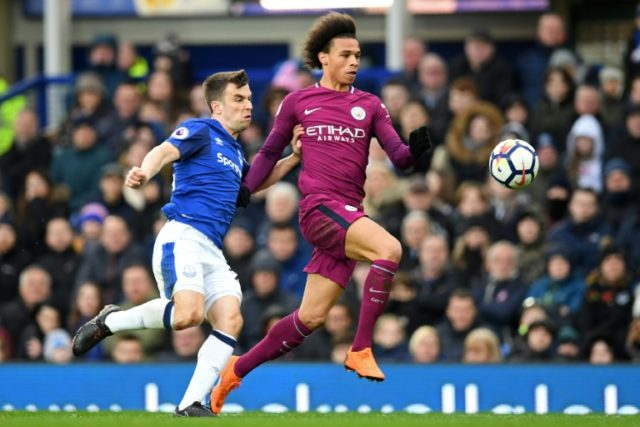City strolled to victory after Leroy Sane's early opener at Goodison Park