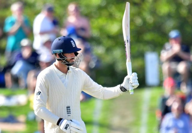 England's James Vince celebrates 50 runs during day three of the second Test against New Zealand in Christchurch