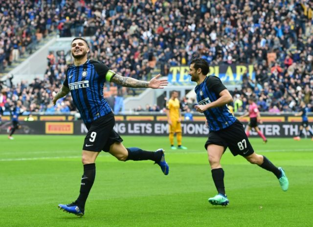 Mauro Icardi has scored six goals in his last two games for Inter as he looks to force his way into Argentina's World Cup squad