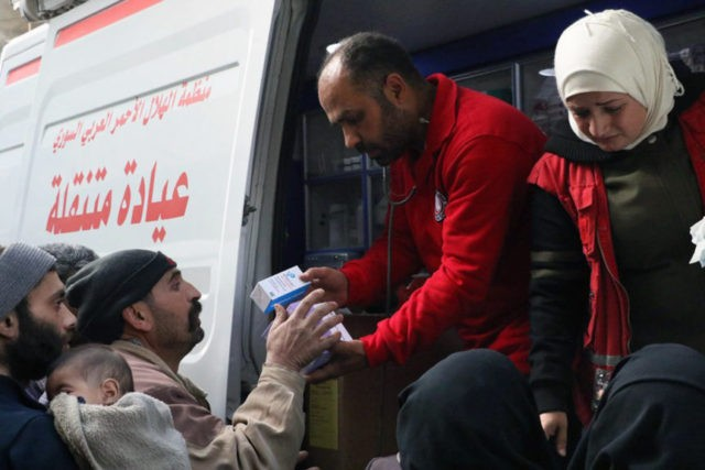 Violence halts rare aid delivery to Syria's eastern Ghouta