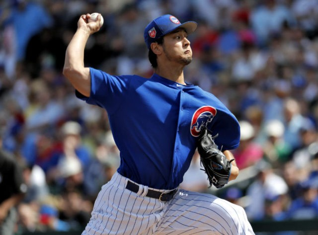 Darvish 2 hitless innings in Cubs spring training debut