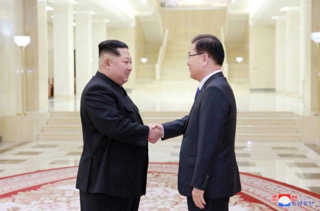 Kim Jong Un, Chung Eui-yong