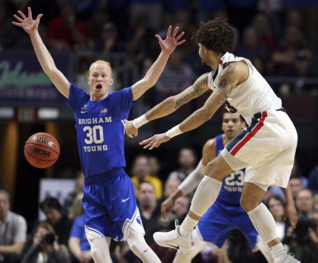 No. 6 Gonzaga beats BYU 74-54 for sixth straight WCC title