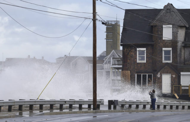 The Latest: Latest nor'easter causing transportation woes