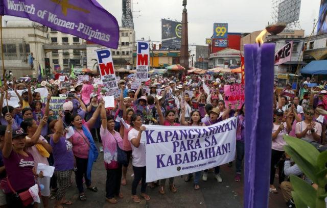 Philippine protest, South Korea's #MeToo mark Women's Day