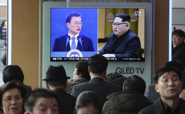 S. Korean president says talks won't ease pressure on North