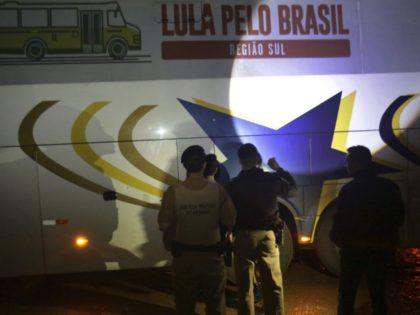 Campaign caravan of Brazil's da Silva shot at; no one hurt