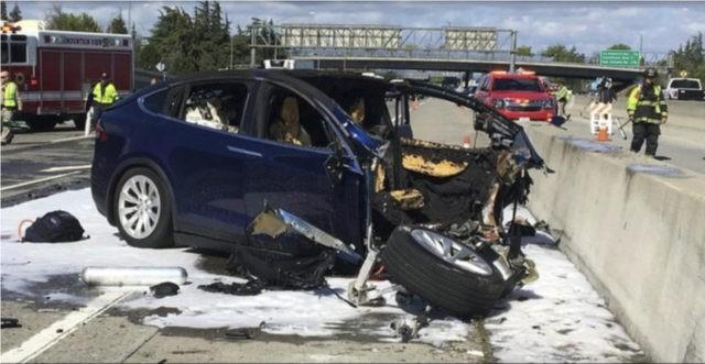 Tesla: Crash was worsened by missing freeway barrier shield