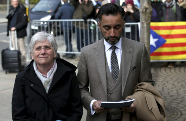The Latest: Ex-Catalan minister turns herself in in Scotland