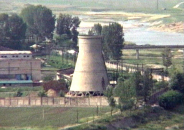 In this June 27, 2008, file photo from television, the 60-foot-tall cooling tower, which was later dismantled, is seen at the main Yongbyon nuclear reactor complex in Yongbyon, North Korea. Increased activity at the Yongbyon North Korean nuclear site has once again caught the attention of analysts and renewed concerns …