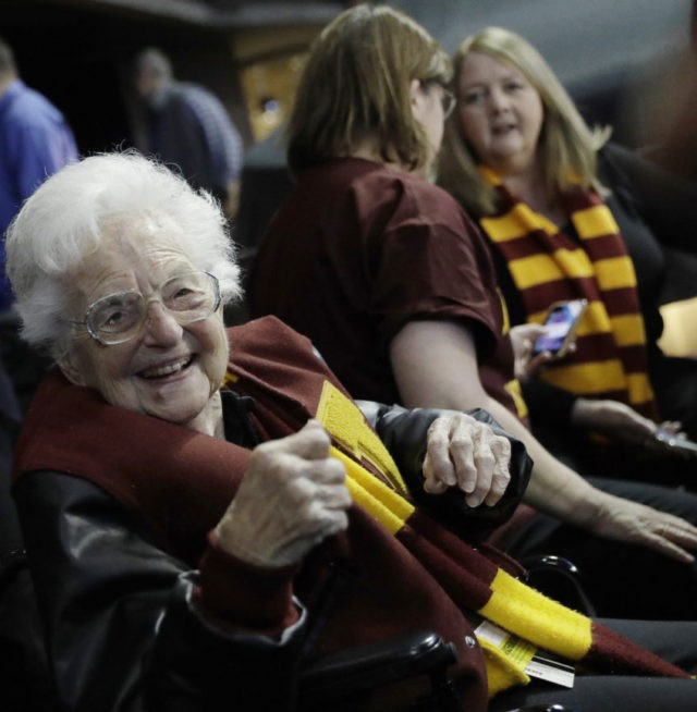 Sister Jean takes hoops to a heavenly place